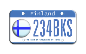 Finland license plate by sneakymonkey04
