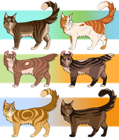 Warrior Cat Adoptables closed by ClimbToTheStars