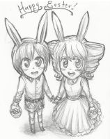 Happy Easter from Lizzy and Ciel by Mikisakiiro