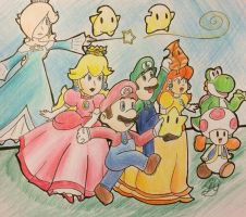 Super Mario Crew! by princesseclairtippi