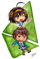 The Melancholy of Chibis by Lina17Inverse