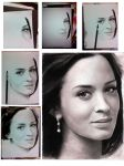 Emily Blunt Charcoal sketch (wips included) by wulfwood04