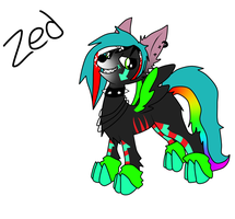 Zed: MLP Wolf by Black-Rose-Emy