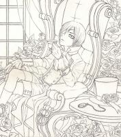 Phantomhive Teatime - for DragonGames - Outlines by Ganjamira