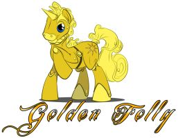 MLP:FiM - Custom Pony commission - Golden Folly by zillford