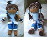 Avatar Korra version 2 plushie by dollphinwing