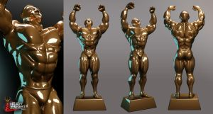 Heavy Weight Championship Trophy by Morefeous