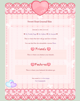 Sweet Heart - Free Journal Skin by r0se-designs
