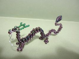 Purple Oriental Beaded Dragon by Slersk