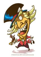 Mad as a Hatter in color by DustinEvans