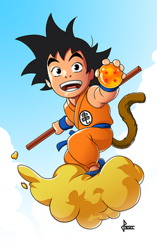 Son Goku by sketchpimp