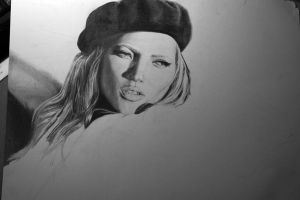 Kate Moss WIP by H3lianthus