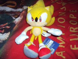 Super Sonic Plush by DazzyDrawingN2