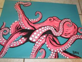 Pink Octopus by JadasArtVision