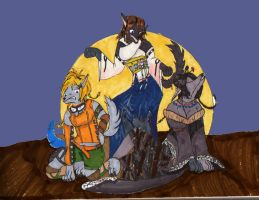 Moonlight Maidens:Trio of 9999 by Kathalia