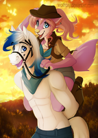 Horse Riding by WolfRoxy