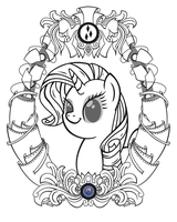 Rarity Vintage Profile (Line Art) by Template93