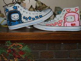 Custom Chucks by lostincaulfields