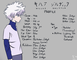 Killua Zoldyck's Profile by Inori-saa