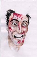 Ash Evil Dead Watercolor - A5 by IgorChakal