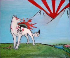 Okami painting by master-niila