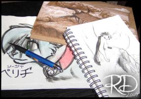 Collection of sketch books by RianaLD