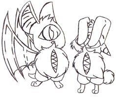Twin Beastie Adopts *CLOSED* by FrostbittenAdopts