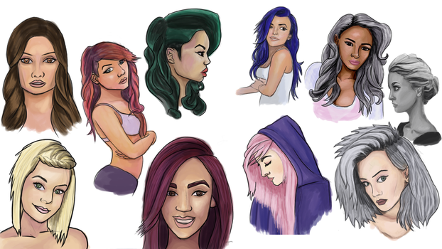 Practice 2 Female Faces by Jundallah