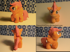 Scootaloo sculpt. - commission by DawnMistPony