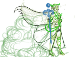 Lady Palutena commision WIP by Deadly-Nightshade13
