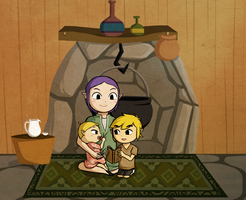 Wind Waker: Babysitting by Icy-Snowflakes