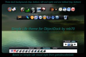 Simple Life for ObjectDock by reb70