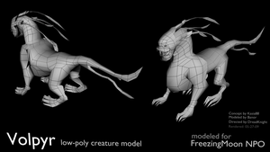Volpyr - low-poly 3D model by artislight