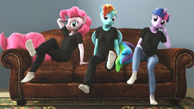 Ponies in Socks by shrunkenlover