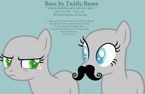 MLP Base 146 - '...And I shall wear my mustache~' by Twiily-Bases