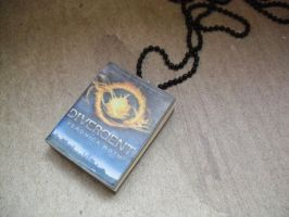 Divergent book necklace by InsaneJellyBean95