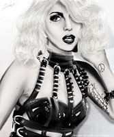 Lady Gaga Digital Painting by Amirah-the-cat