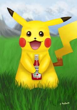 Pikachu's Ketchup! by LuckyOwl2306