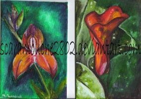 Mini Paintings: Flowers by scaramouche2802