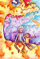 Rick and Morty World by Zinfer