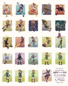 Every Armour Set in Breath of the Wild [25/25] by Chromel