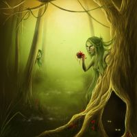 Dryad forest by Ivelena