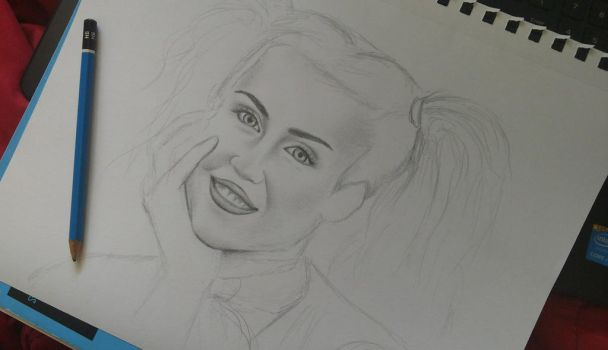 Miley Cyrus sketch by AndyVRenditions