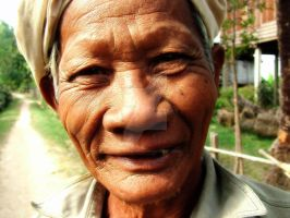 Old man in Laos by gatonegro2551