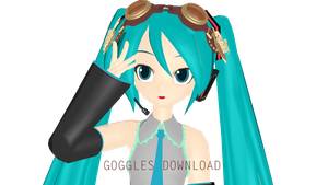 - MMD DL - Steampunk goggles by NoUsernameIncluded