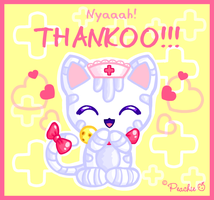 Nurse Kitty says Thank You by Princess-Peachie