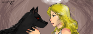 The Angel and her Hellhound by TheCarmiBug