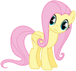 Fluttershy Looking At Us or You by TomFraggle