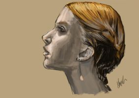 Hair Style Speedpaint study by 14th-division
