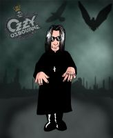 Ozzy caricature sketch by deanfenechanimations